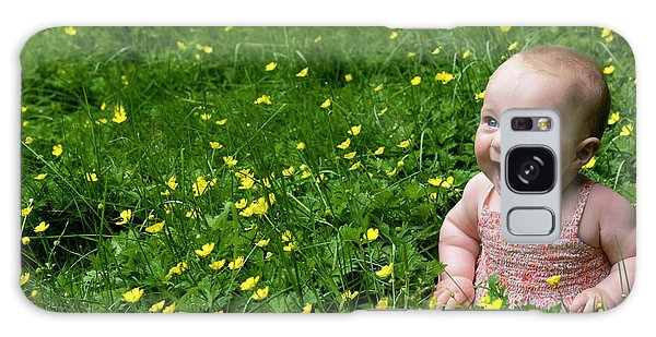 Joyful Baby In Flowers Galaxy Case
