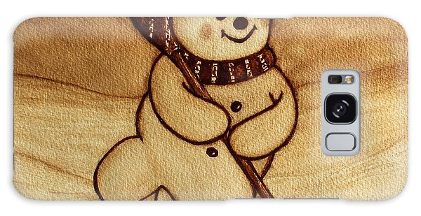 Joyful Snowman  Coffee Paintings Galaxy Case