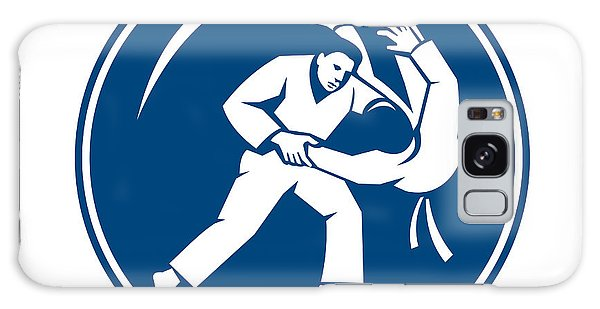 Sportsman Galaxy Case - Judo Combatants Throw Circle Icon by Aloysius Patrimonio