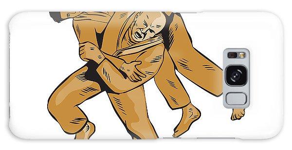 Sportsman Galaxy Case - Judo Combatants Throw Front Etching by Aloysius Patrimonio