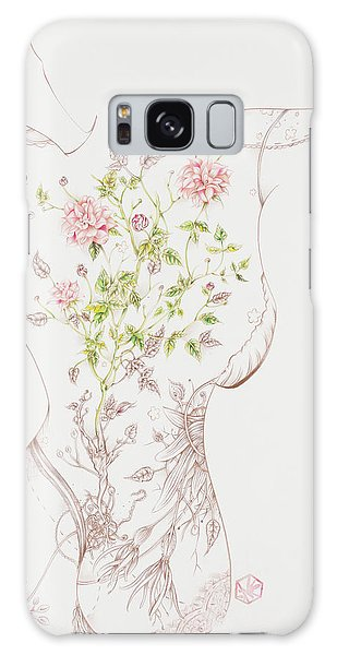 Juliette-sold Galaxy Case by Karen Robey