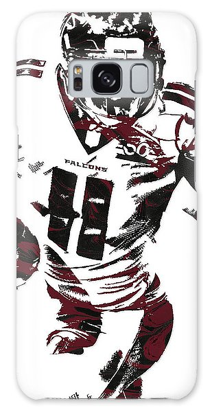 Julio Jones Atlanta Falcons Pixel Art 4 Galaxy Case