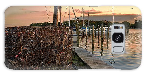 Crab Pots And Sailboats Galaxy Case by Glenn Gemmell