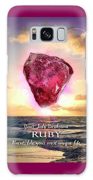 July Birthstone Ruby Galaxy Case