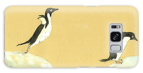 Bird Galaxy Case - Jumping Penguins by Juan  Bosco