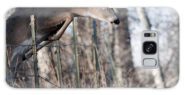 Jumping White-tail Buck Galaxy Case
