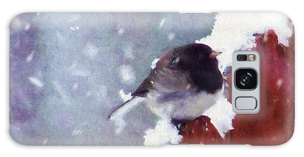 Junco In The Snow, Square Galaxy Case
