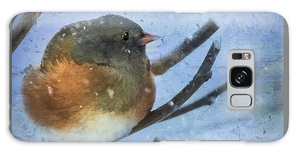 Junco On Winter Day Galaxy Case