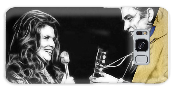 June Carter And Johnny Cash Collection Galaxy Case