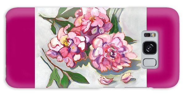 June Peonies Galaxy Case by Susan Thomas