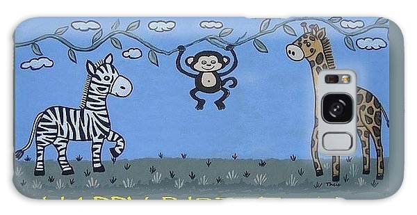 Jungle Animals Happy Birthday Galaxy Case