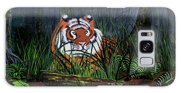 Jungle Cat Galaxy Case by Myrna Walsh