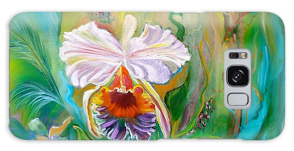 Jungle Orchid Galaxy Case by Jenny Lee