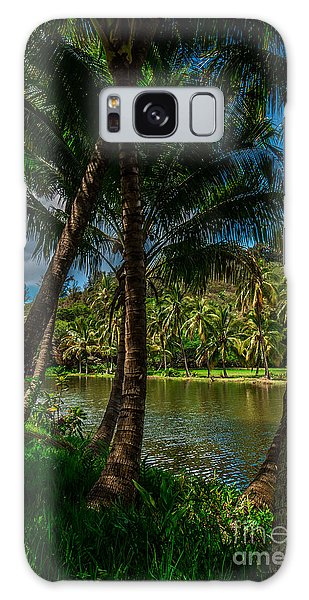 Jungle River Palms Kauai Galaxy Case