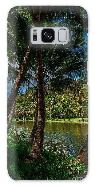 Jungle River Palms Kauai Galaxy Case