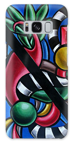 Jungle Stripes 1 - Abstract Painting Galaxy Case