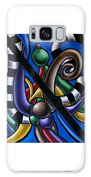 Colorful 3d Abstract Art Painting - Multicolored Original Artwork - Black And White Stripes Galaxy Case