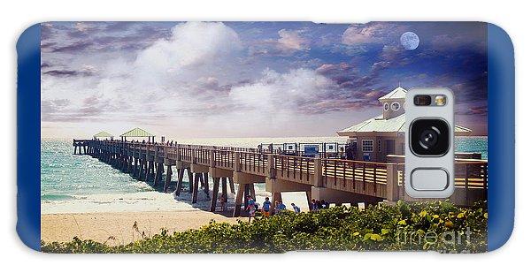 Juno Beach Pier Treasure Coast Florida Seascape Dawn C5a Galaxy Case