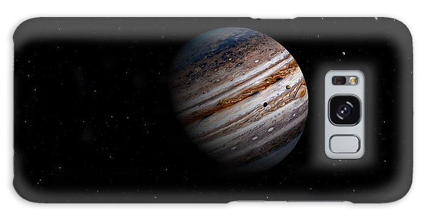 Jupiter And It 4 Major Moons Galaxy Case