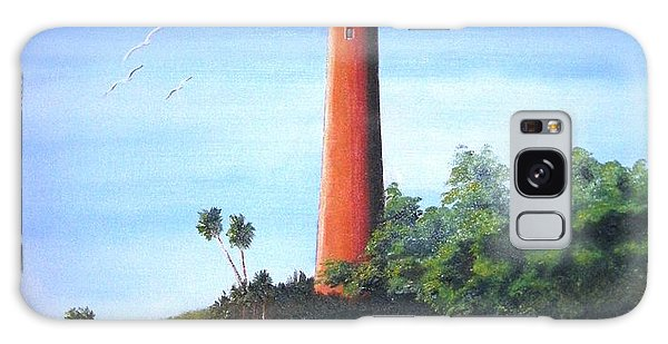 Jupiter Lighthouse And Pilings Galaxy Case
