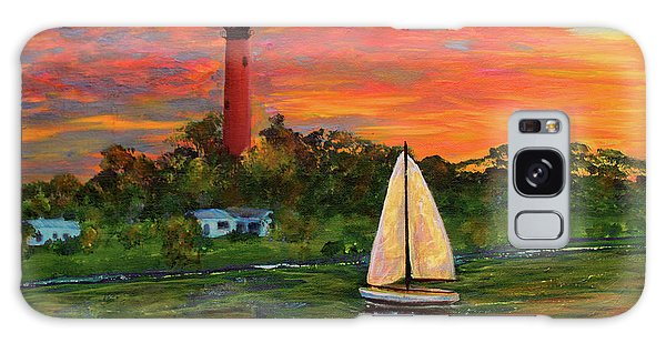 Jupiter Lighthouse Sunrise Alt Galaxy Case