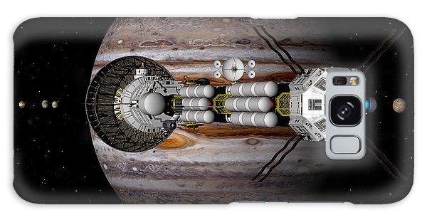Jupiter Looming Galaxy Case by David Robinson