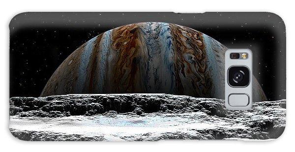 Jupiter Rise At Europa Galaxy Case by David Robinson
