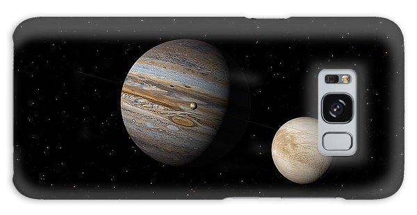 Jupiter With Io And Europa Galaxy Case