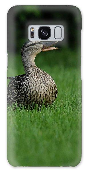 Just A Happy Duck Galaxy Case