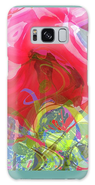 Just A Wild And Crazy Rose - Floral Abstract - Colorful Art Galaxy Case