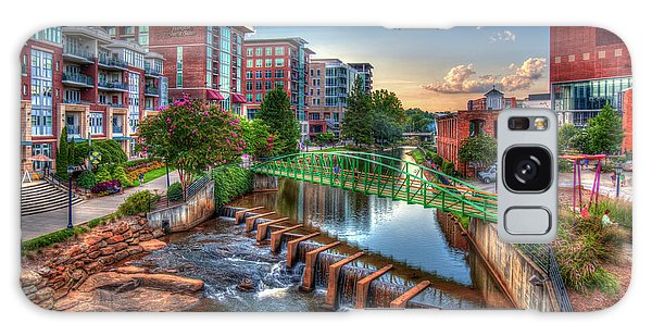 Just Before Sunset 2 Reedy River Falls Park Greenville South Carolina Art Galaxy Case