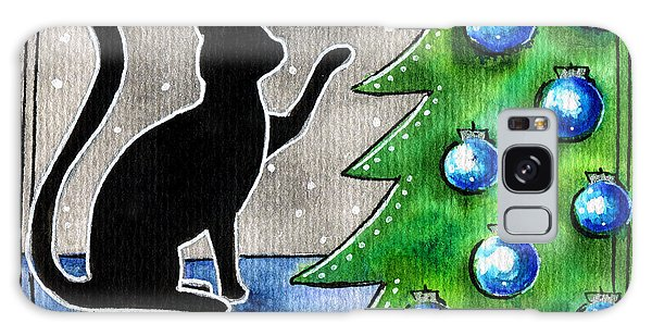 Just Counting Balls - Christmas Cat Galaxy Case