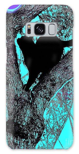 Black Cat- Violet Moon Galaxy Case