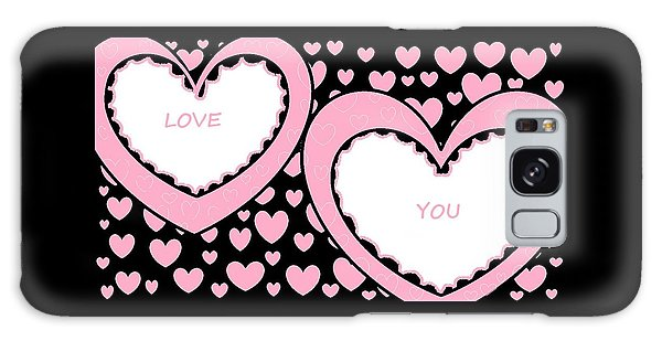 Just Hearts 2 Galaxy Case