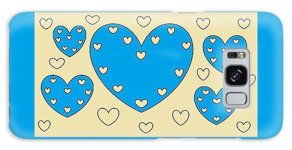 Just Hearts 4 Galaxy Case by Linda Velasquez