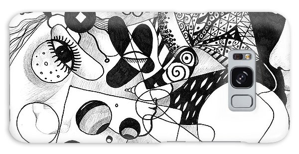 Organic Abstraction Galaxy Case - Just In Time by Helena Tiainen