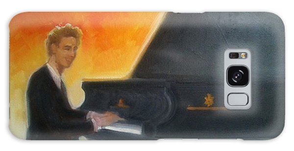 Justin Levitt At Piano Red Blue Yellow Galaxy Case