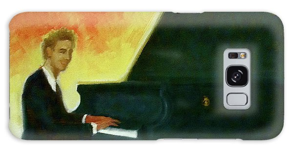 Justin Levitt Red Black Yellow Galaxy Case