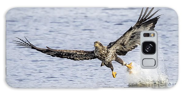 Juvenile Bald Eagle Fishing Galaxy Case