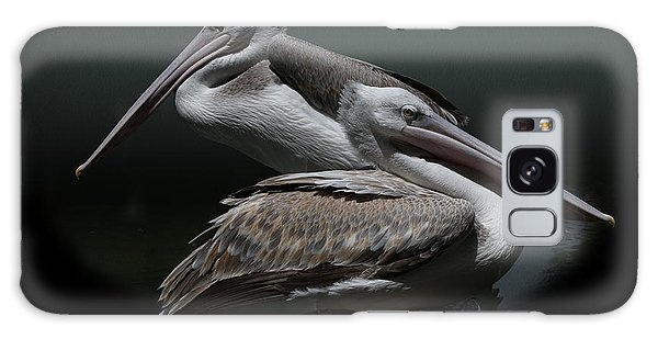 Juxtaposition - Pelicans Galaxy Case