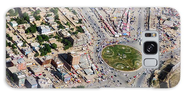 Galaxy Case featuring the photograph Kabul Traffic Circle Aerial Photo by SR Green