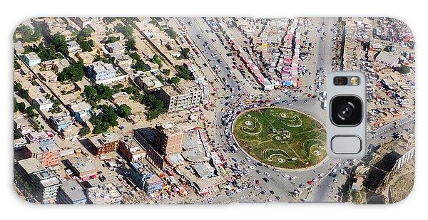 Kabul Traffic Circle Aerial Photo Galaxy Case