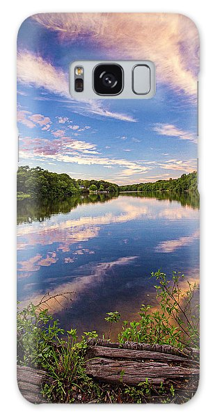 Kahler's Pond Clouds Galaxy Case