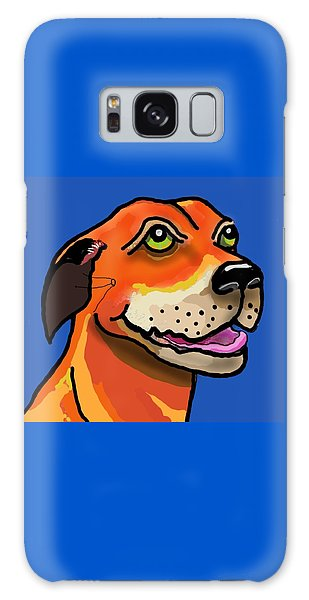 Galaxy Case - Kai With Blue Background by Joan Stratton