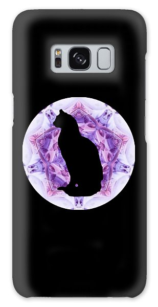 Kaleidoscope Cat Silhouette Galaxy Case