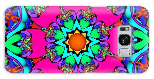 Kaleidoscope Flower 03 Galaxy Case