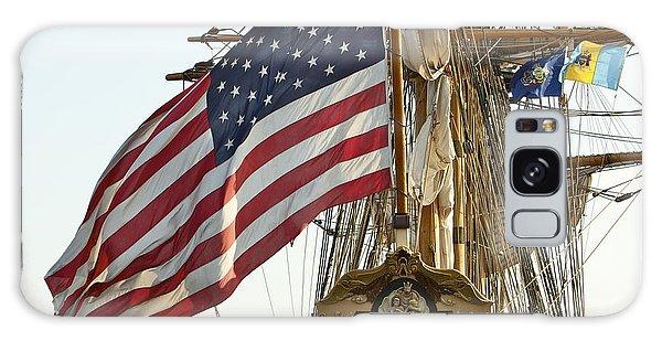 Kalmar Nyckel American Flag Galaxy Case by Alice Gipson