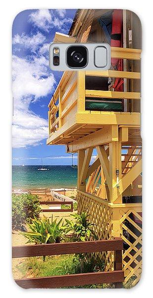 Kamaole Beach Lifeguard Tower Galaxy Case by James Eddy