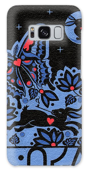Galaxy Case featuring the painting Kamwatisiwin - Gentleness In A Persons Spirit by Chholing Taha
