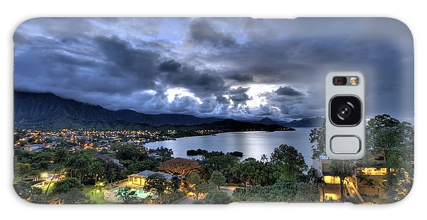 Kaneohe Bay Night Hdr Galaxy Case
